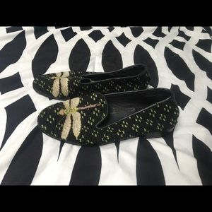 The Larkspur Collection Needlepoint Loafers